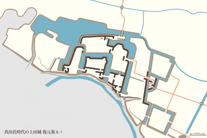 真田氏時代の上田城 復元案A+