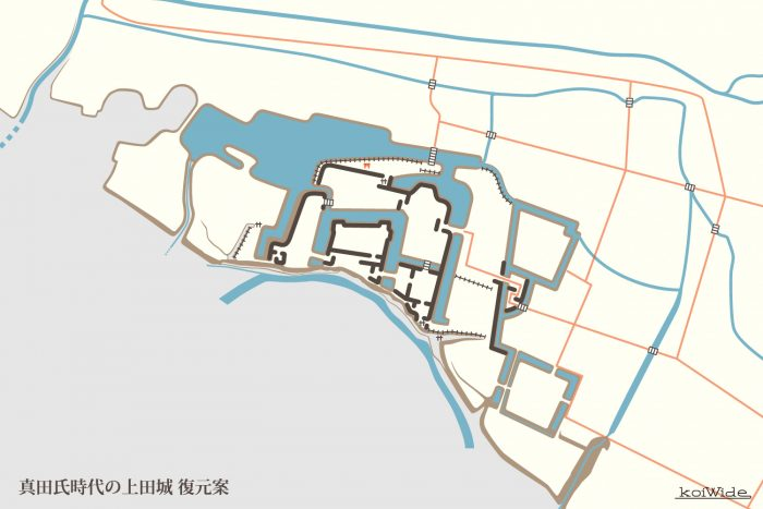真田氏時代の上田城 復元案