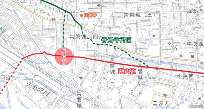 古代の街道筋の推定図①