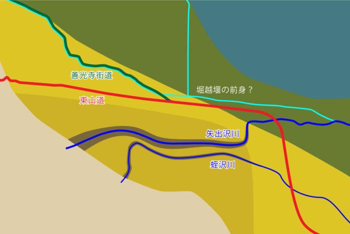 古代の街道筋の推定図②