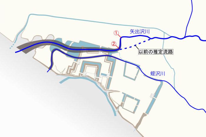 旧矢出沢川の流路②