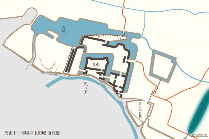 天正十二年頃の上田城 復元案