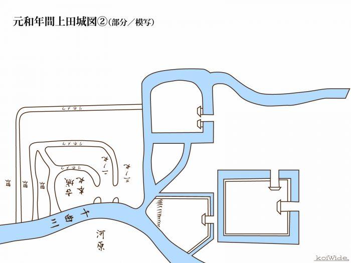 元和年間上田城図②(部分/模写)