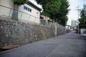 上田高校南側の小河岸段丘