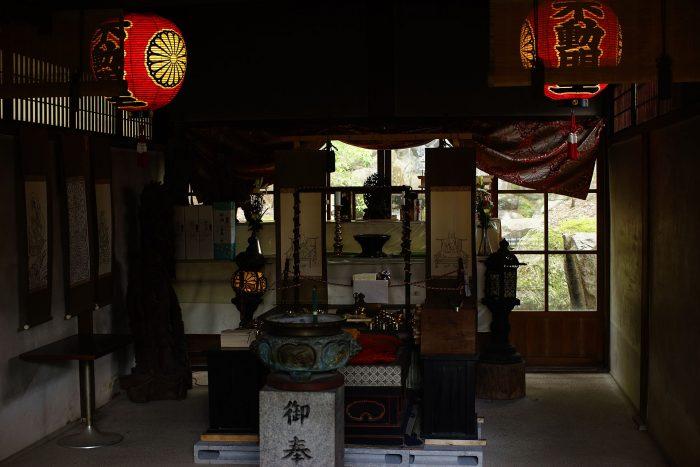 赤山禅院/御瀧籠堂の中
