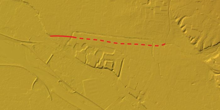 前回示した河岸段丘の仮想ライン