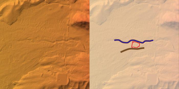 真田氏館跡周辺の地形図