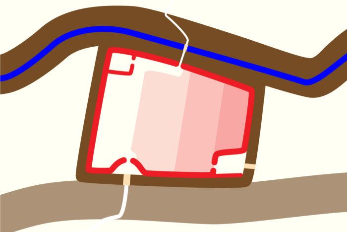 真田氏館の推定図