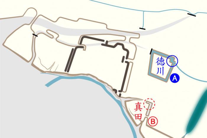2つの築城用陣地